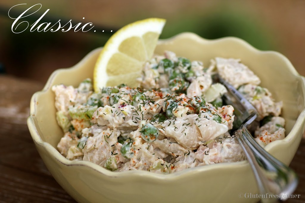 Summertime classic tuna pasta salad for Macaroni salad with tuna fish