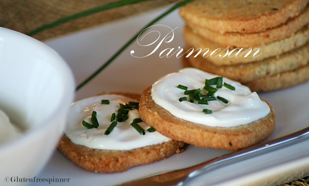 Parmesan Chive Shortbread Crackers