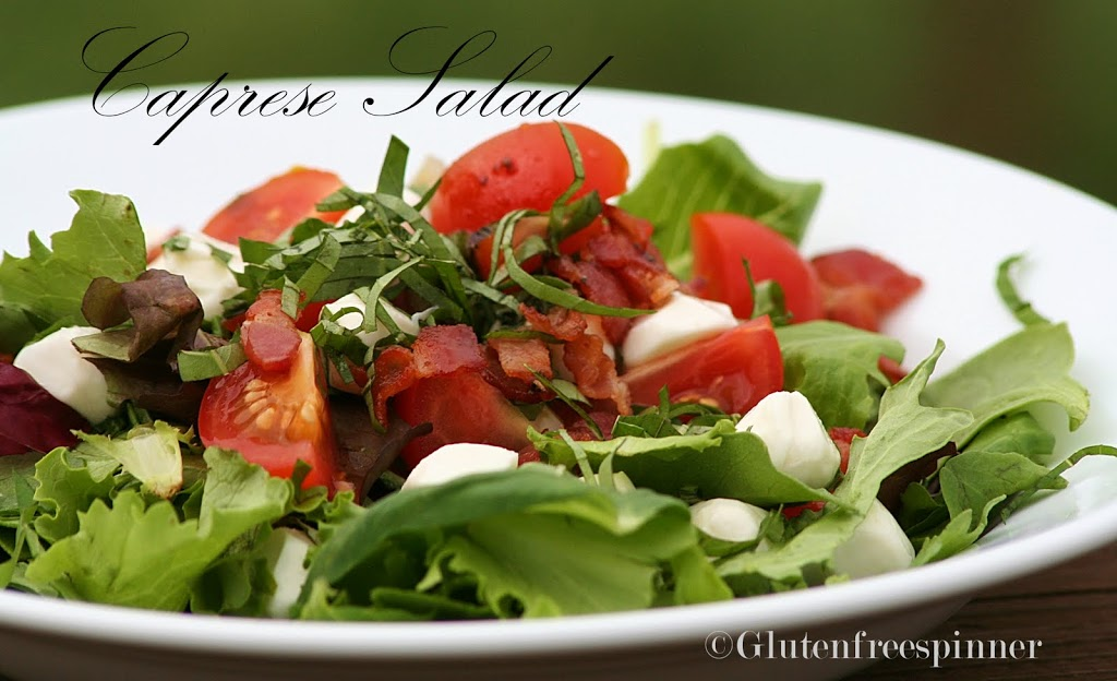 Caprese Tossed Salad with Bacon
