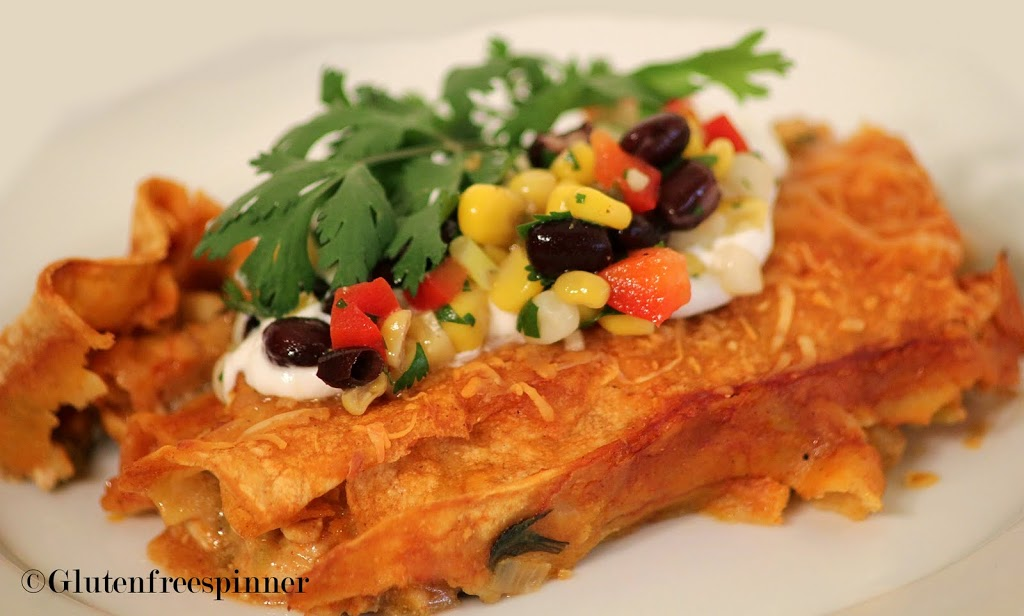 Turkey and Spinach Enchiladas
