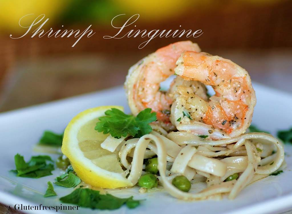 Shrimp Linguine with Sweet Baby Peas