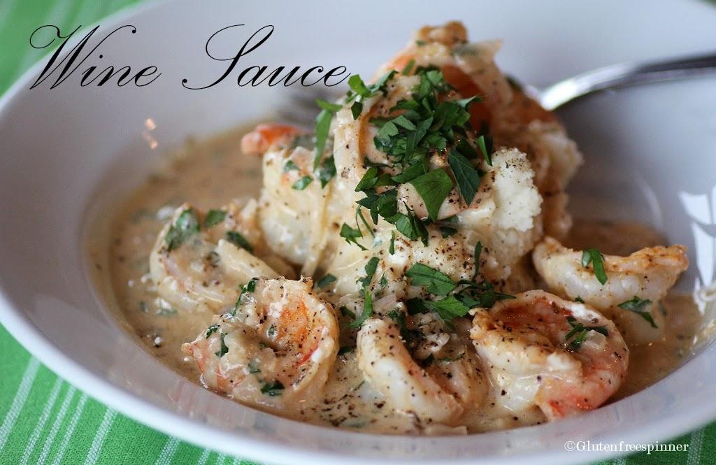Shrimp in Creamy Garlic Wine Sauce