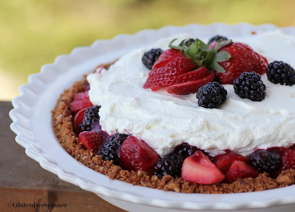 Cream Cheese Fruit Pie with Signature Cookie Crust