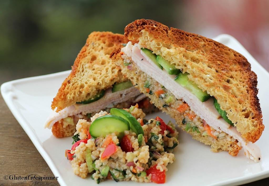 Tabouli Salad Turkey Sandwich