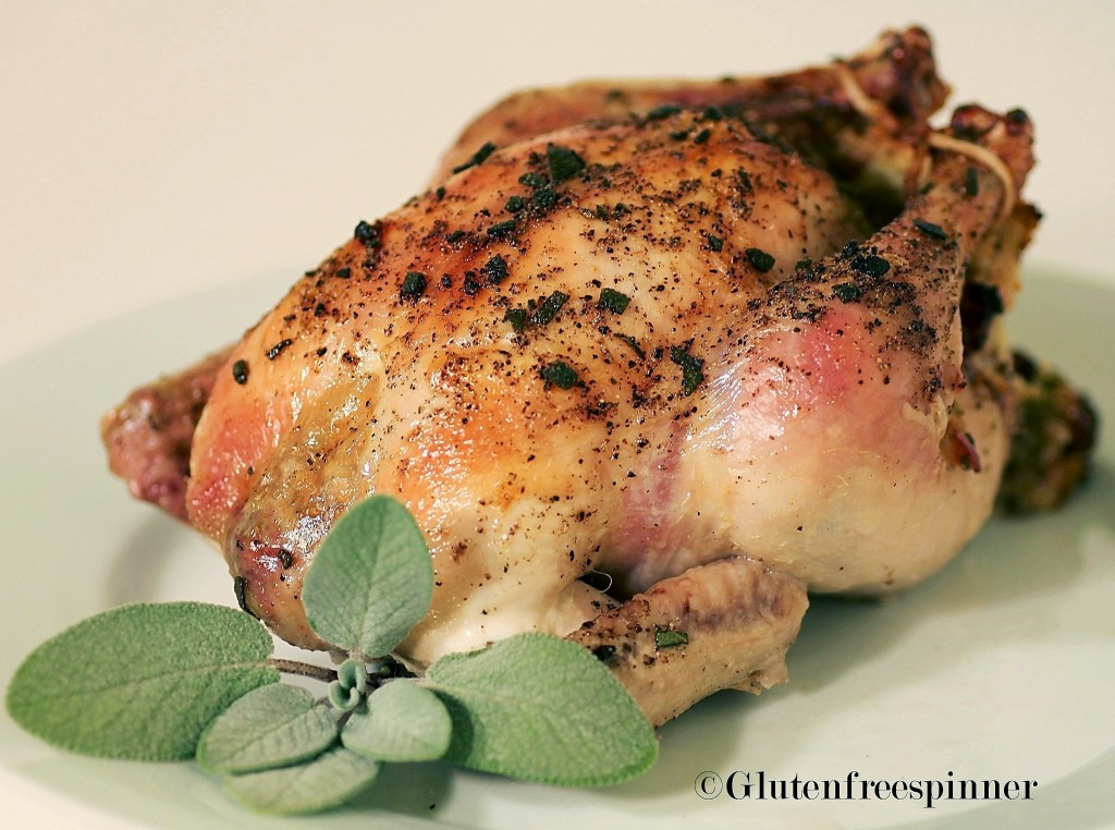 Cornish Game Hens with Apple Stuffing