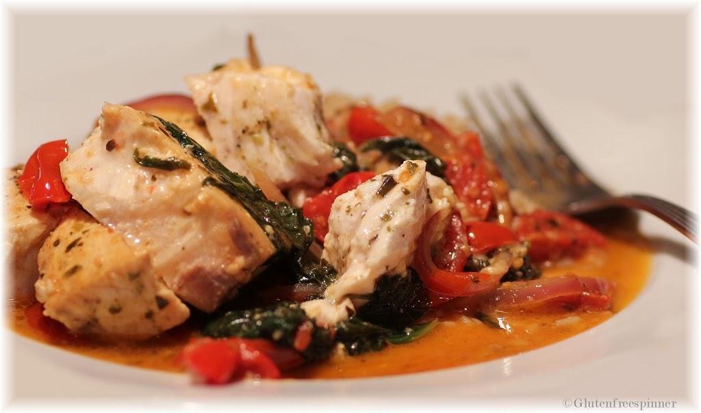 Mediterranean Herb Swordfish in Wine Sauce