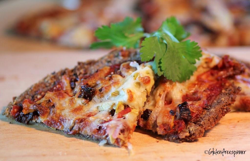 Artichoke Pizza with Aduki Bean Crust