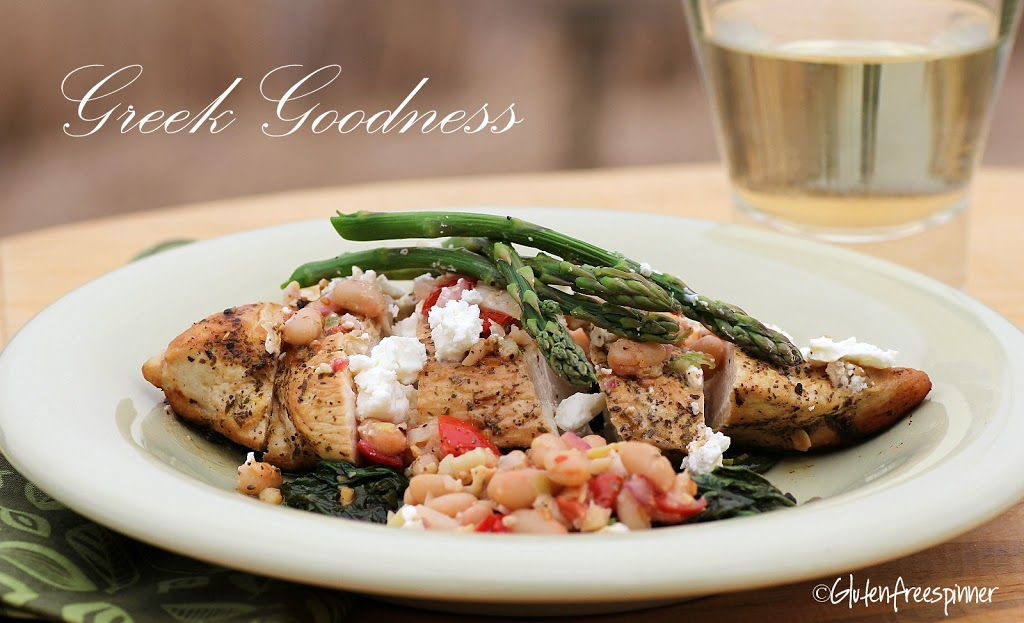 Greek Chicken with Artichoke Salsa and Asparagus