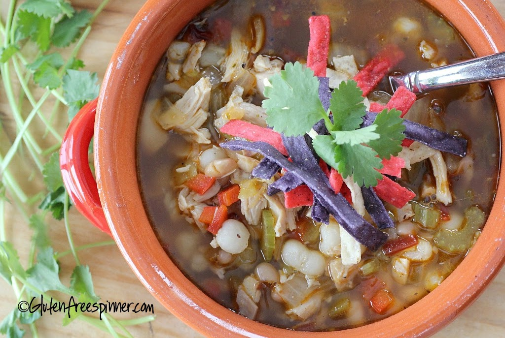 Spicy Chicken Soup with Hominy