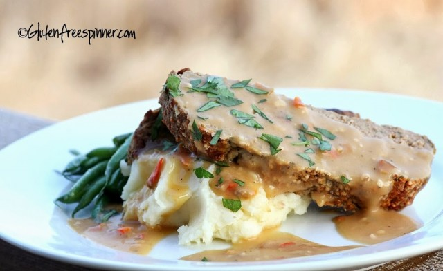 Meatloaf with Red Pepper Gravy