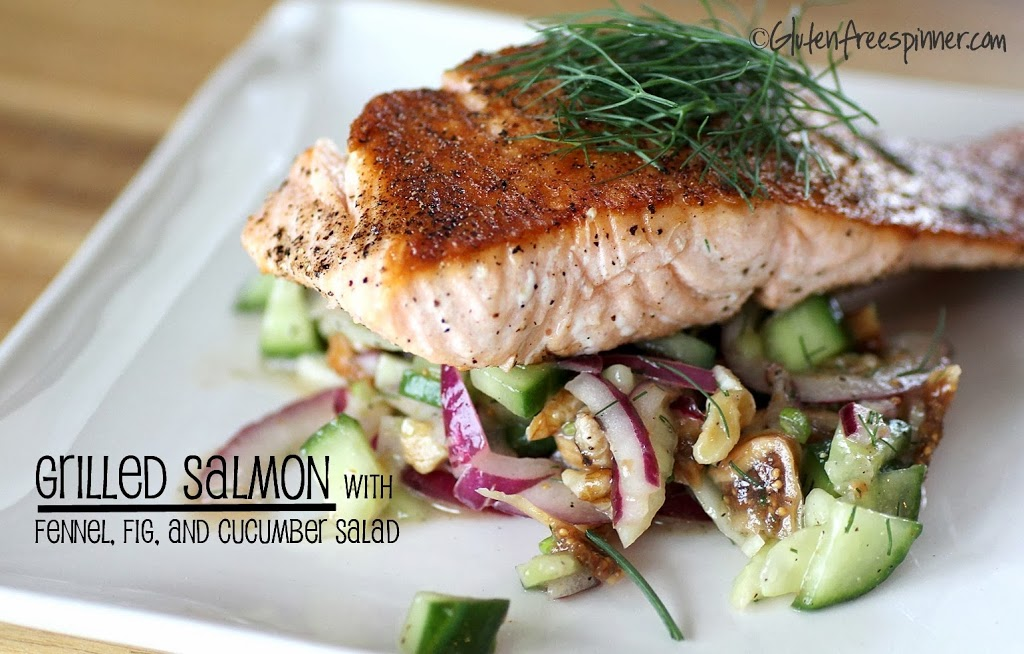 Salmon – Grilled with Cucumber Fig Salad