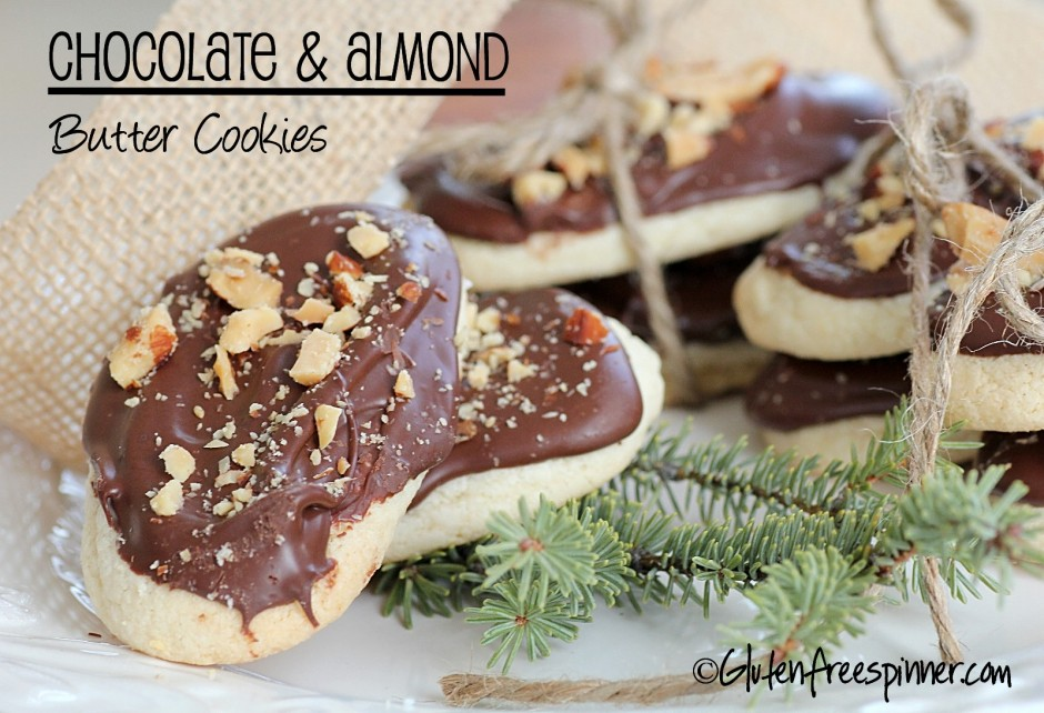 christmas cookies, butter cookies, gluten free, chocolate