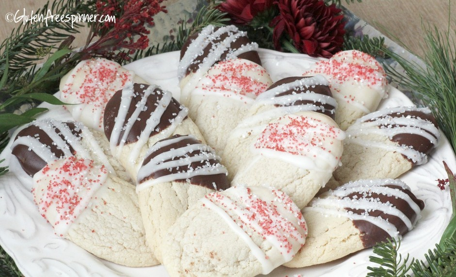 frosted butter cookies, christmas cookies, gluten free