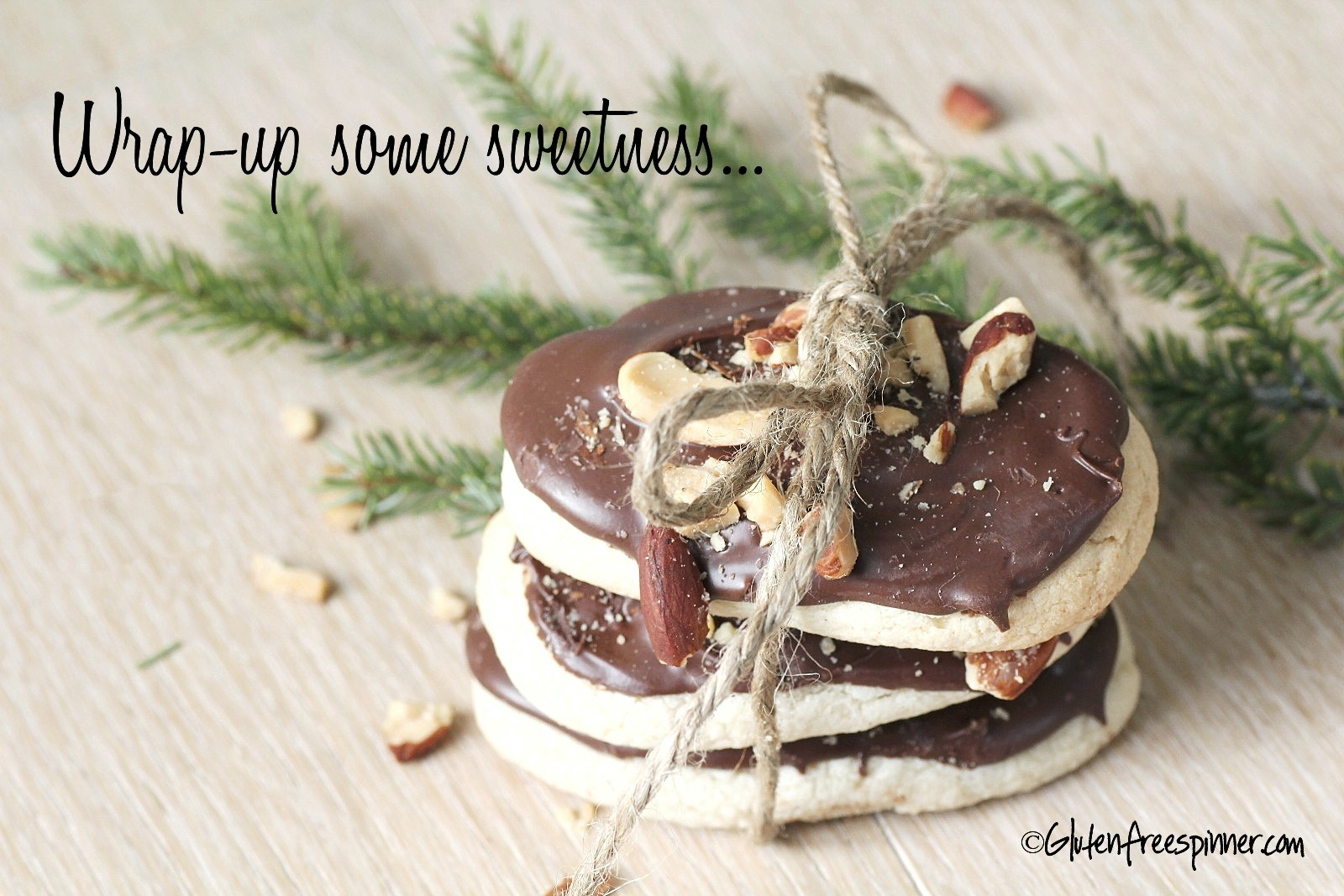 butter cookies, christmas, chocolate, almonds gluten free