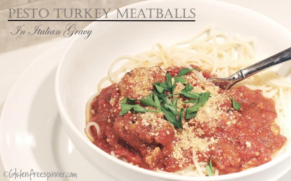 pesto, meatballs, tukey meatballs, Italian