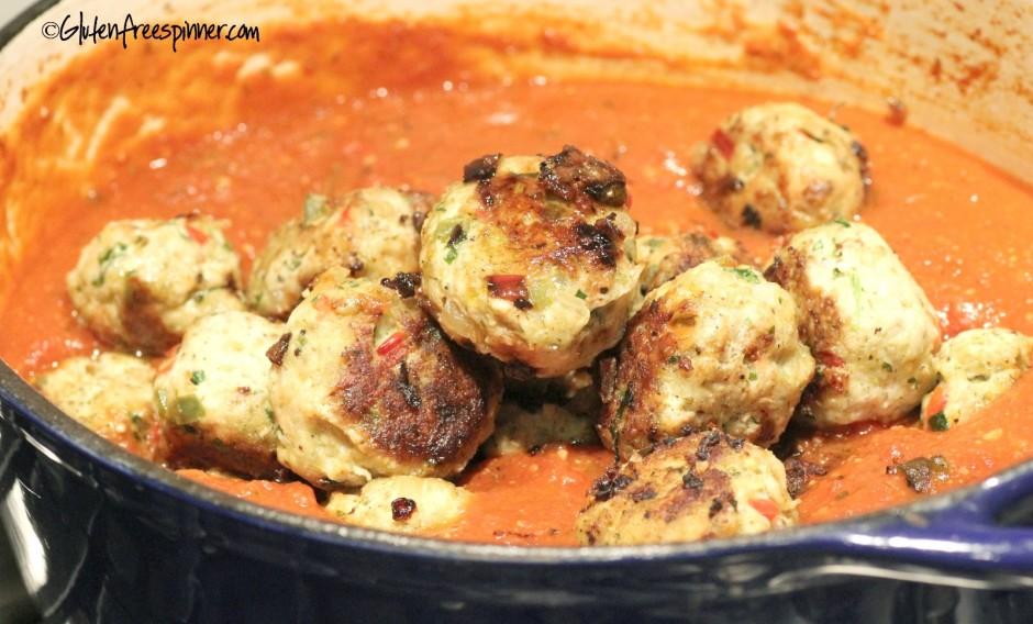 turkey meatballs, Italian gravy, Italian meatballs, gluten free