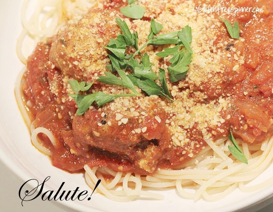 salute!, Italian, pesto, meatballs, Italian Gravy