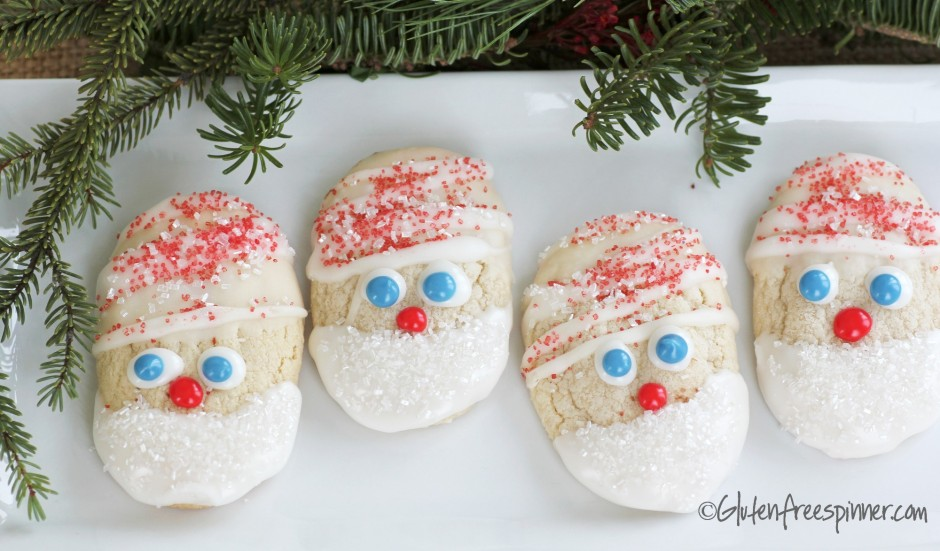 snow elves, christmas cookies, decorated butter cookies, gluten free