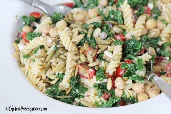 kale and garbanzo salad.6