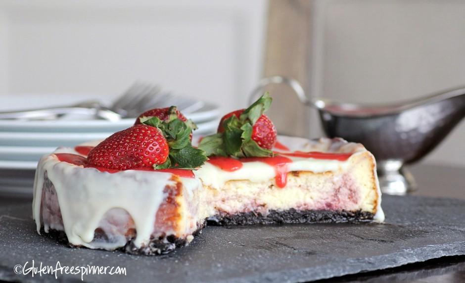 Strawberry white chocolate cheesecake.2