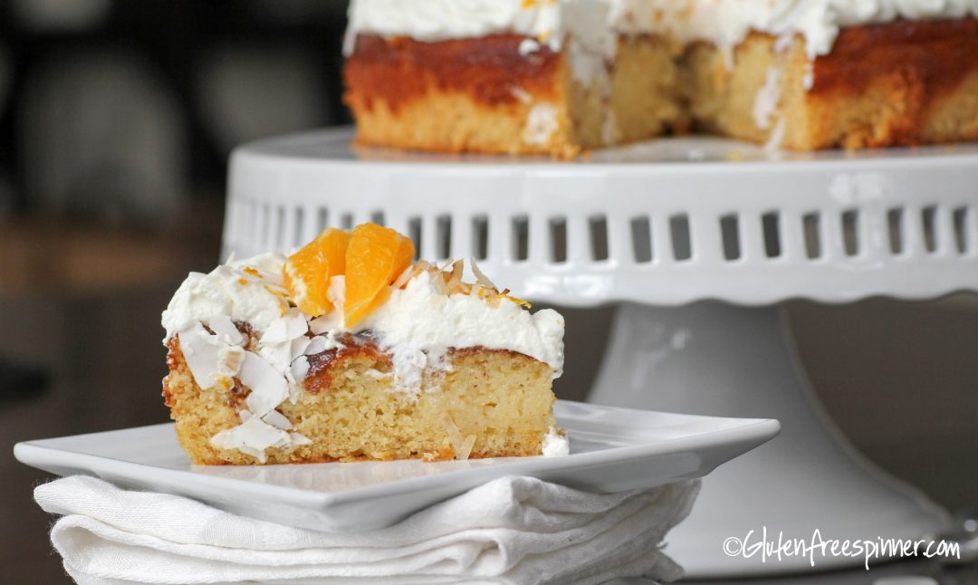 Gluten Free coconut orange cake