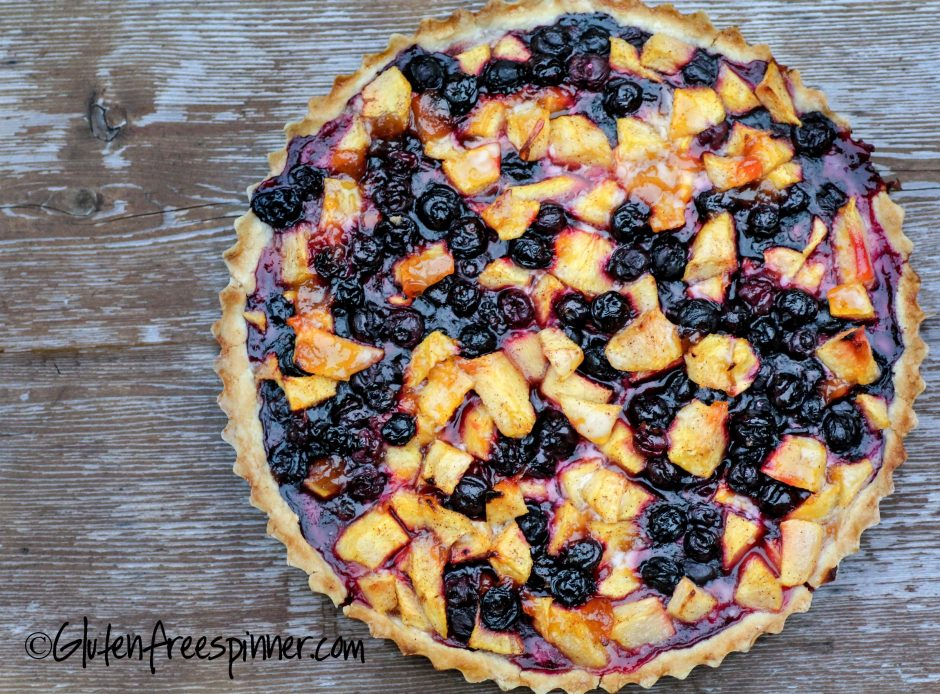 Peach Blueberry Tart Food Gluten Free Recipes Photos Gluten