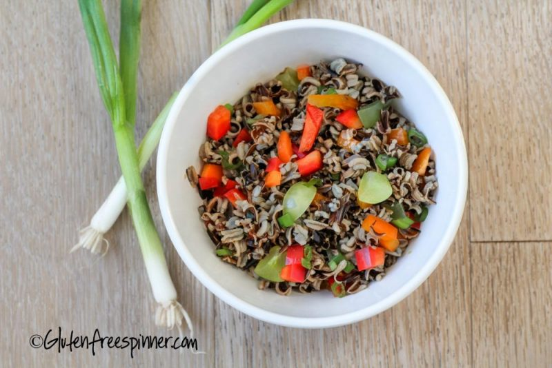 Wild Rice, Peppers, and Grape Salad